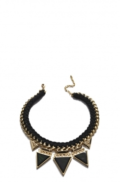 Plated Black and Gold Chain Necklace