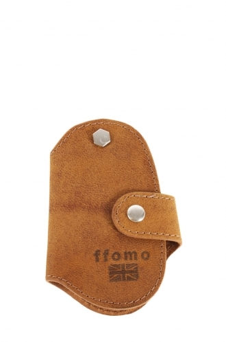 FFOMO Real Goat Brown Leather Handmade Unisex Key Holder