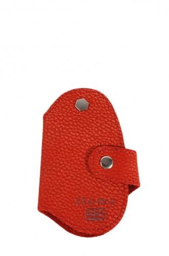 FFOMO Real Goat Orange Leather Handmade Key Holder