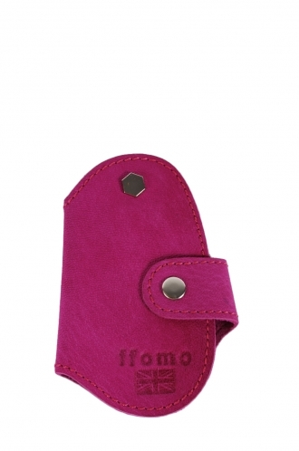 FFOMO Real Goat Pink Leather Handmade  Key Holder