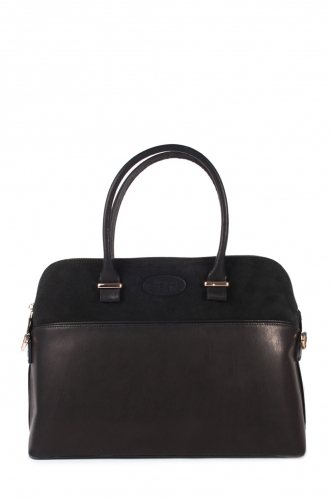 FFOMO Real Leather Black Handbag