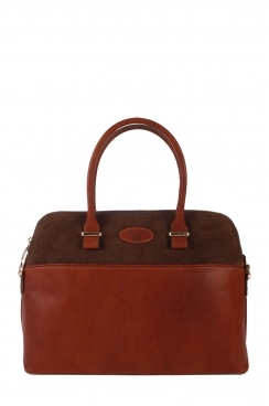 Real Leather Burgundy Handbag