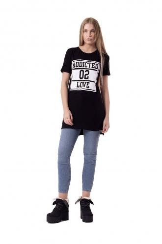 FFOMO RiRi Black T-shirt Dress
