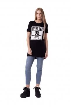 RiRi Black T-shirt Dress