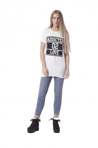 FFOMO RiRi Cream T-shirt Dress