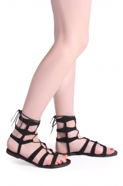 Rose above the ankle gladiator sandlas
