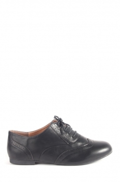 Rosie Black Patent lace up brogues