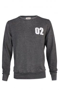 Ross 02 Applique Patch Dark Grey Sweatshirt