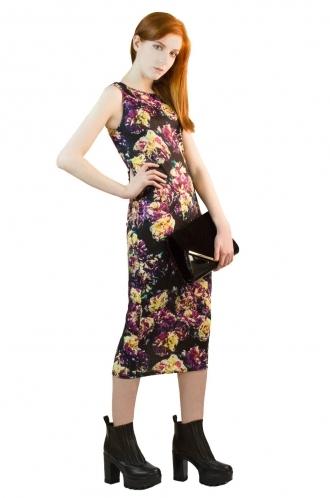 FFOMO Sabrina Multicolour Midi BodyCon Dress
