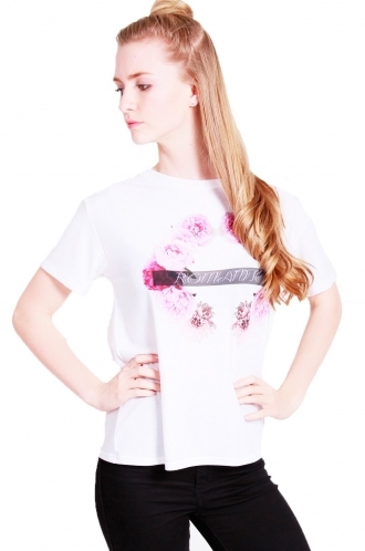 FFOMO Sadie sublimation rose Oversized t-shirt