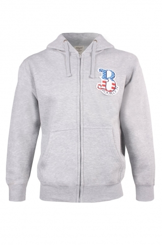 FFOMO Sam Brooklyn Embroidered Patch Zipped Hoodie