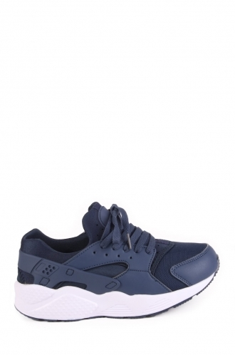 FFOMO Sammi Navy laceup trainers