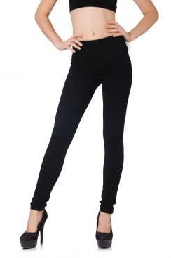 Sarah Black Plain Leggings