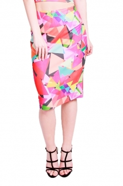 Scarlett triangle printed long skirt