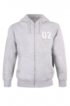 Scott 02 Applique Patch Zipped Hoodie