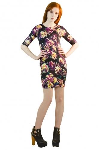 FFOMO Selina Multicolour Mini BodyCon Dress