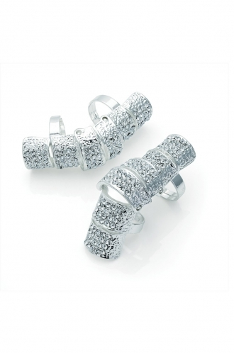 FFOMO Silver Double hinged elongated ring