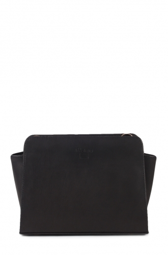 FFOMO Small Black Cross Body Real Leather Bag