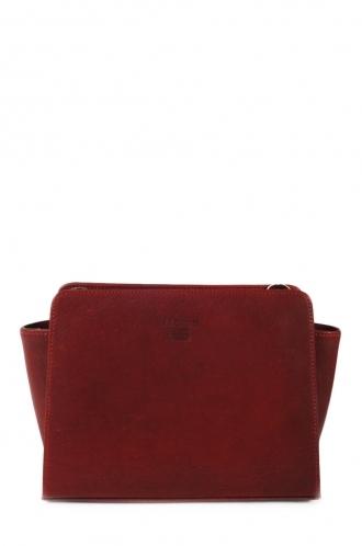 FFOMO Small Burgundy Cross Body Real Leather Bag