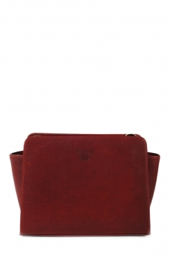 Small Burgundy Cross Body Real Leather Bag