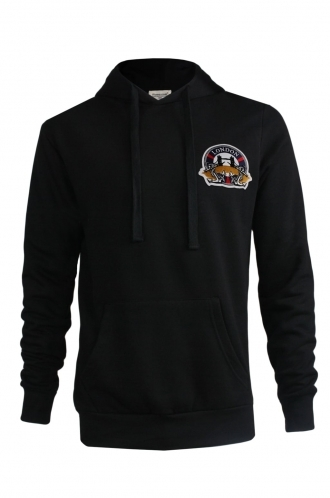 FFOMO Stephen London Embroidered Patch Black Hoodie