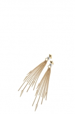 Stud Tassel Drop Earring