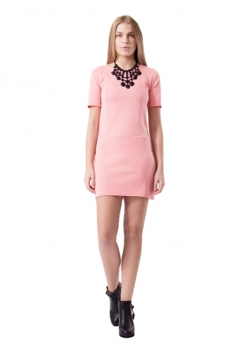 FFOMO Summer Baby Pink Drop Waist Dress