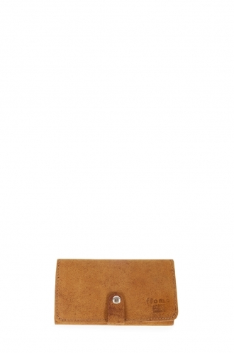 FFOMO Tan Real Camel Leather Wallet