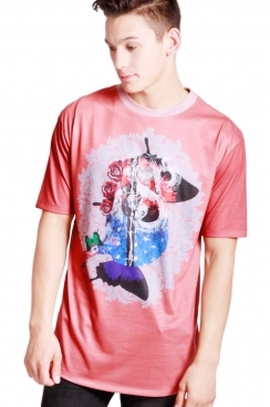 Theo College Print Classic Fit T-shirt
