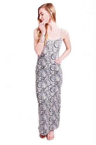 FFOMO Tilly Paisley Strappy Maxi Dress