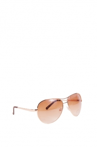 FFOMO Unisex Billie Aviator sunnies with Gold framed and gold tinted lens.