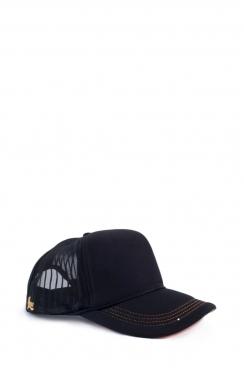 Unisex Black Mesh Cap
