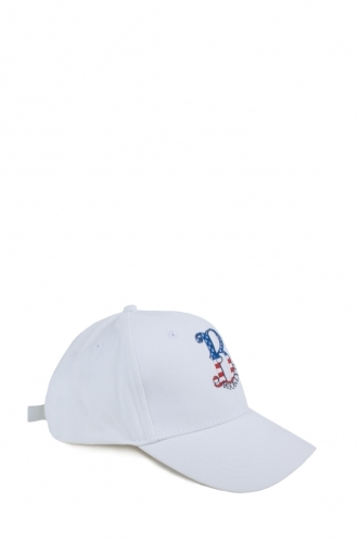 FFOMO Unisex Brooklyn Embroidered White Cap