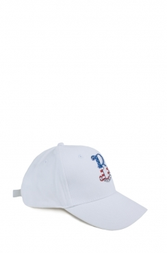 Unisex Brooklyn Embroidered White Cap