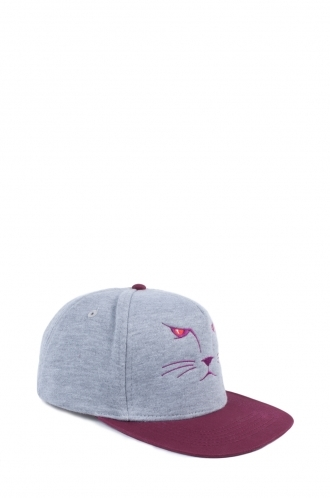 FFOMO Unisex Contrast Cat Embroidered Snapback
