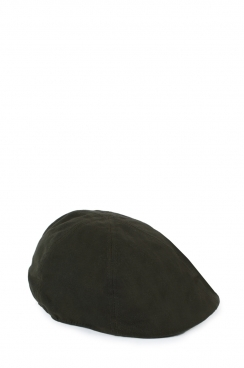Unisex Dark Khaki Embroidered Flat Cap