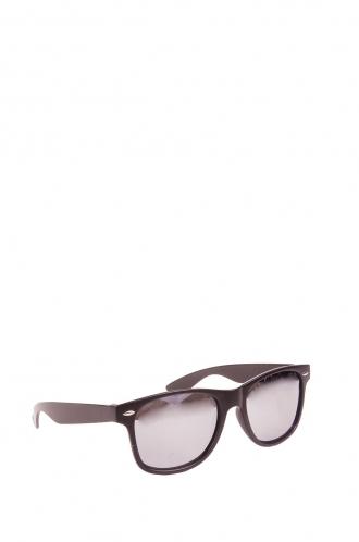 FFOMO Unisex, Devon's wayfarer black framed and mirrored lens sunglasses