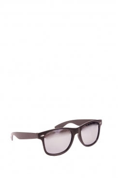 Unisex, Devon's wayfarer black framed and mirrored lens sunglasses