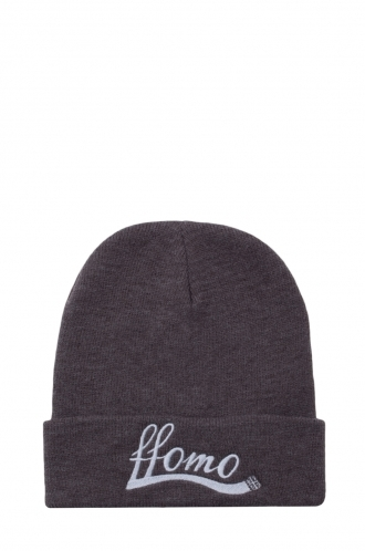 FFOMO Unisex Grey Embroidered Beanie hat