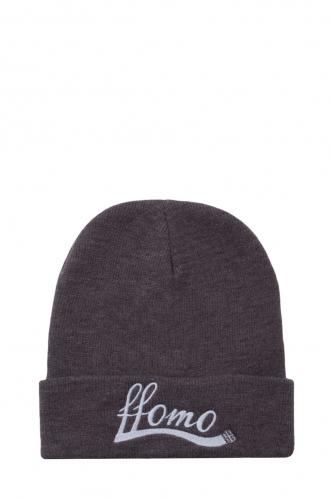 FFOMO Unisex Grey Embroidered Beanie hat