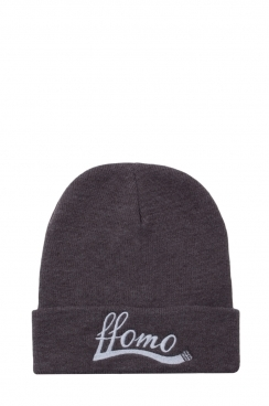 Unisex Grey Embroidered Beanie hat