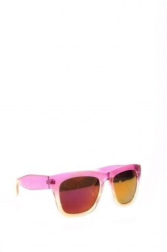 Unisex Parker reflectors with transparent frame and tinted lens, sunglasses.