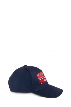 Unisex Red bus Embroidered Navy Cap