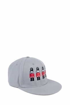 Unisex Solider Embroidered Grey Snapback