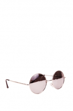 Unisex Taylor black frame and silver tinted lens sunglasses.