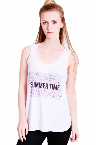 FFOMO vicky vest with Summer time watermelon sublimation