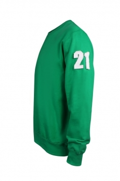Walt 21 Applique Arm Patch Green Sweatshirt