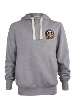 William London Embroidered Patch Pullover Hoodie