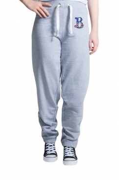Womens Brooklyn Embroidered Grey Jogger