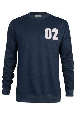 Zach 02 Applique Patch Navy Sweatshirt